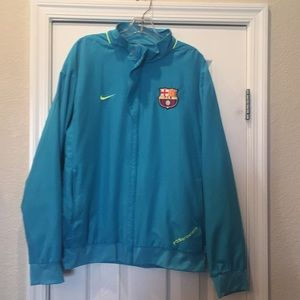 L FC Barcelona Soccer Med weight Jacket Turquoise